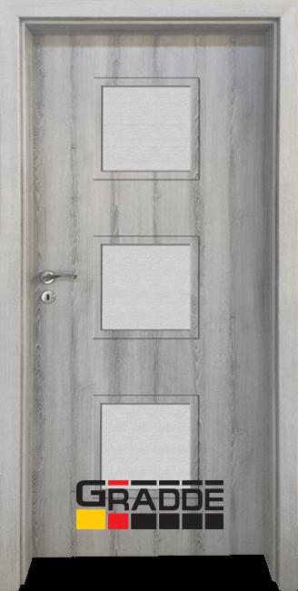 Интериорна HDF врата, модел Gradde Bergedorf, Ясен Вералинга