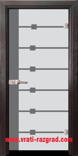 Стъклена интериорна врата модел Sand G 14-5 с каса Венге
