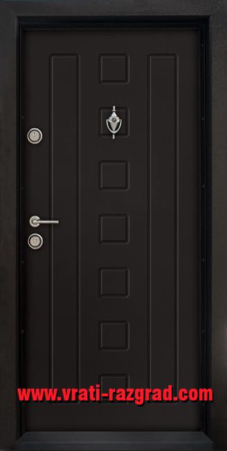 Блиндирана входна врата T 712, цвят Африка