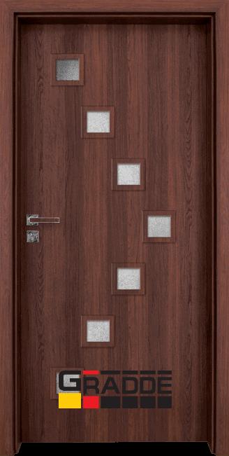 Интериорна HDF врата, модел Gradde Zwinger, Шведски дъб