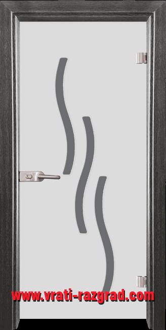 Стъклена интериорна врата модел Sand G 14-2 Сив кестен