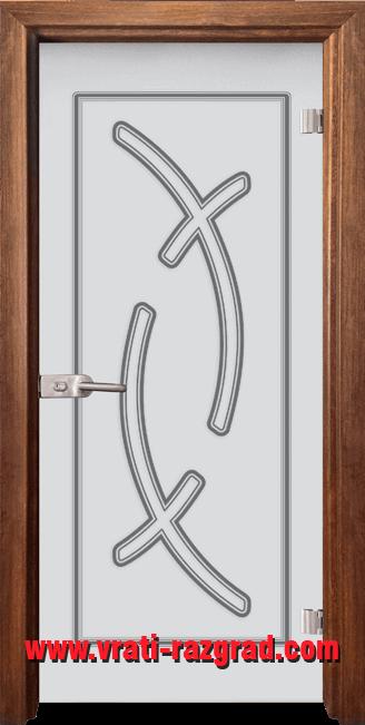 Стъклена интериорна врата модел Sand G 14-9 Златен дъб