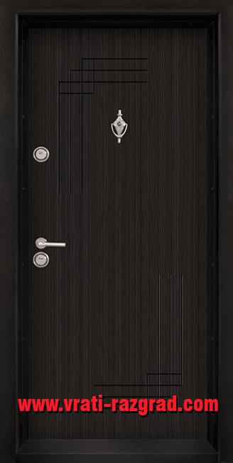 Блиндирана входна врата модел 111, цвят Черна Перла