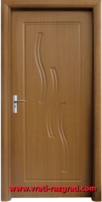 Интериорна HDF врата, модел Стандарт 014-Р, Златен дъб