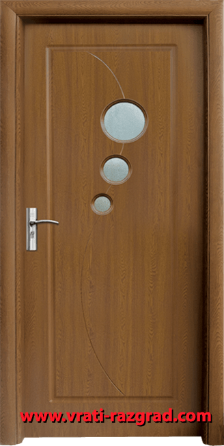 Интериорна HDF врата, модел Стандарт 017, Златен дъб
