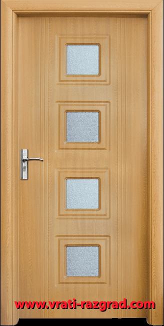 Интериорна HDF врата, модел Стандарт 021, Светъл дъб