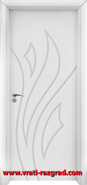 Интериорна HDF врата, модел Стандарт 033-Р, Бял