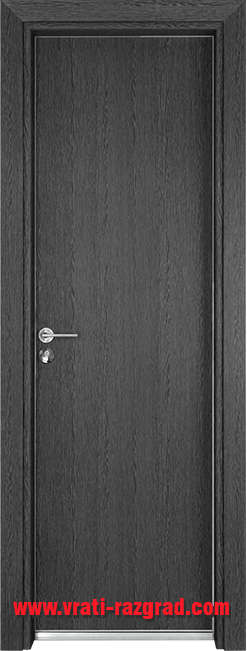 Алуминиева врата за баня – Гама, цвят Сив Кестен