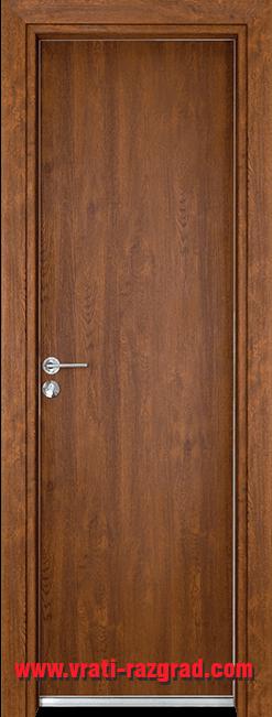 Алуминиева врата за баня – Гама, цвят Златен дъб